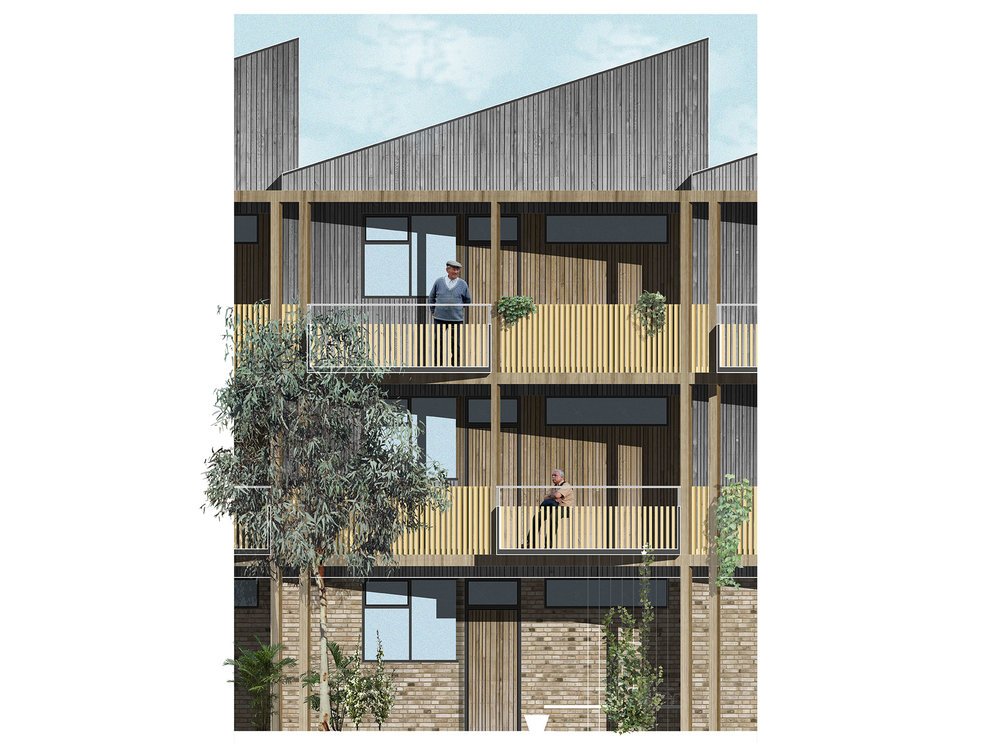Fig 3. Courtyard Bay Elevation