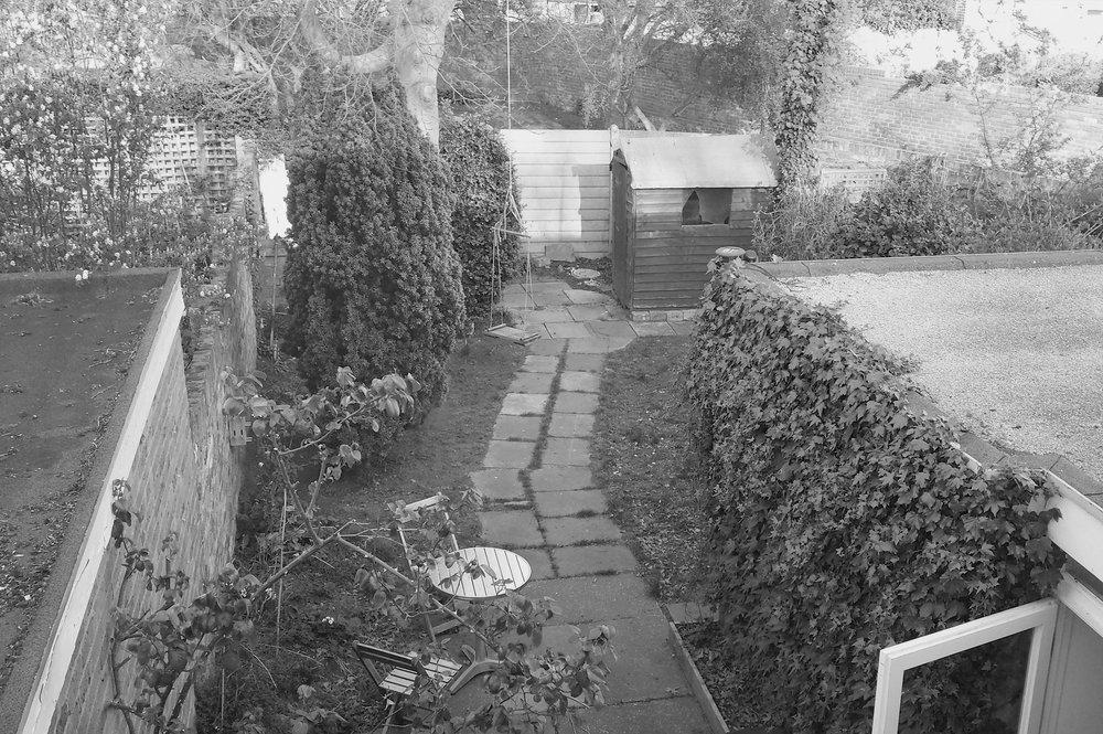 Pre-construction site visit (Garden).