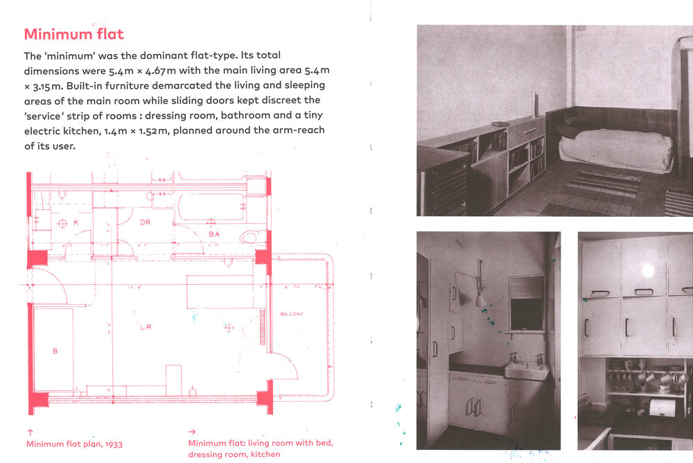 Original Isokon Flat.(From The Isokon Gallery book)
