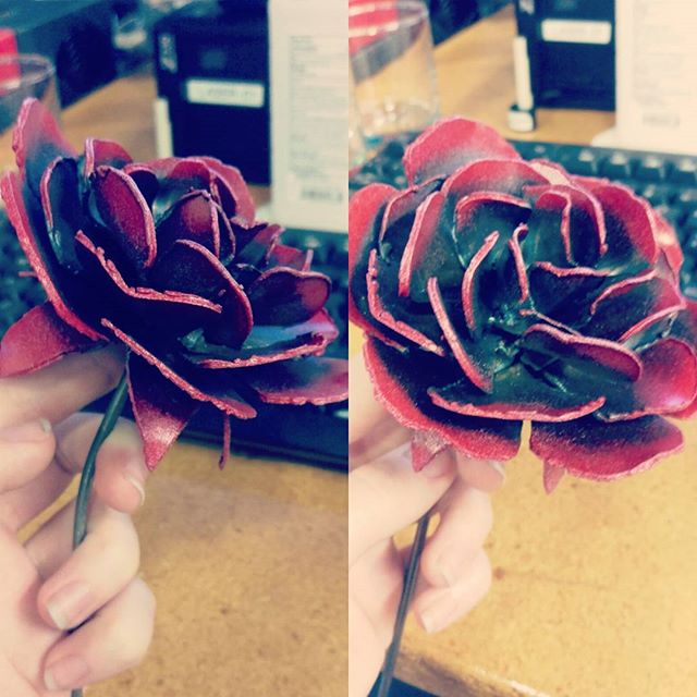 Metal Rose #armoryfab #fabrication #metal #welding #plasmacut #roses #flowers #gifts
