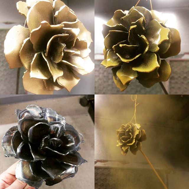 #armoryfab #powdercoating #roses #metal #plasmacut