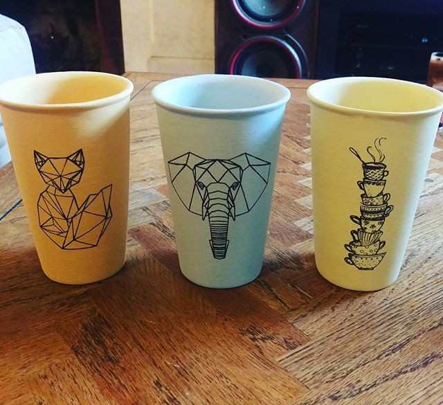 New mug designs #ceramics #travelmug #fox #elephant #teacups #armoryfab