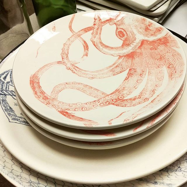 Nautical plates :) #octopus #sealife #ceramics