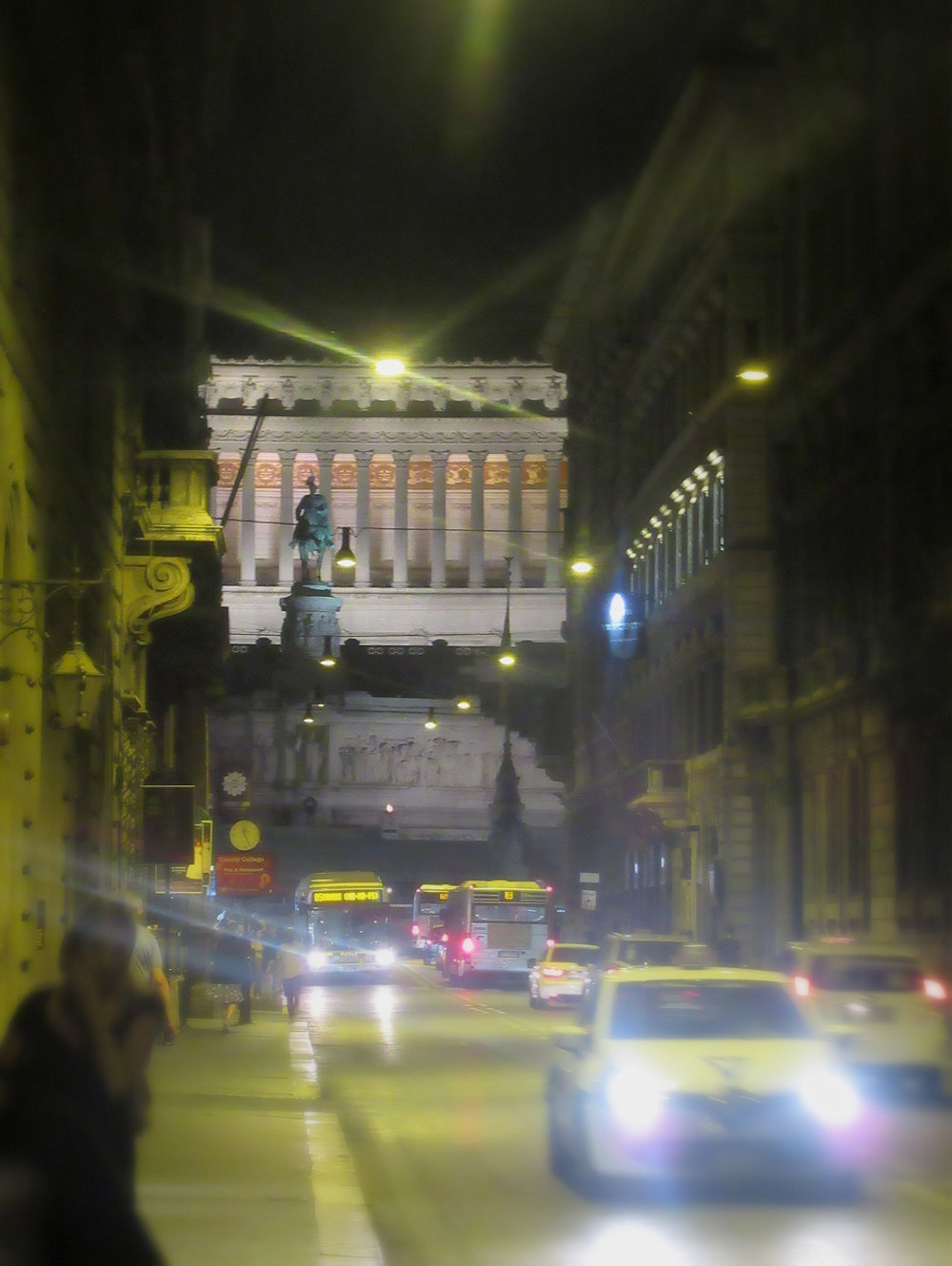 Vittoriano Emmanuele Monument Rome Night