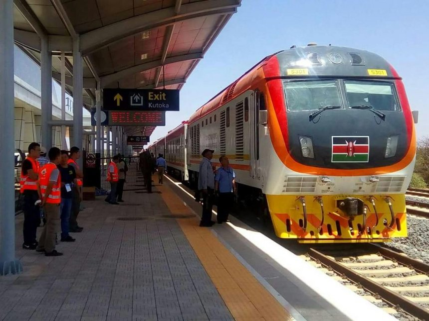 The new SGR train. Photo: thestar.co.ke