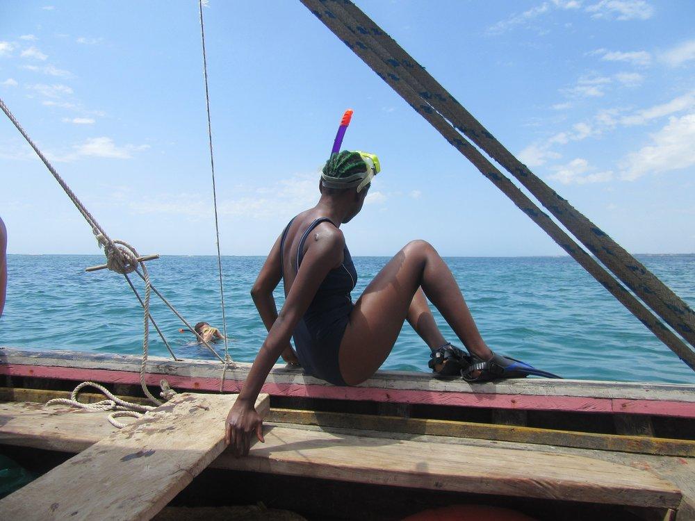 Snorkelling in Kilifi, Kenya. 2017.