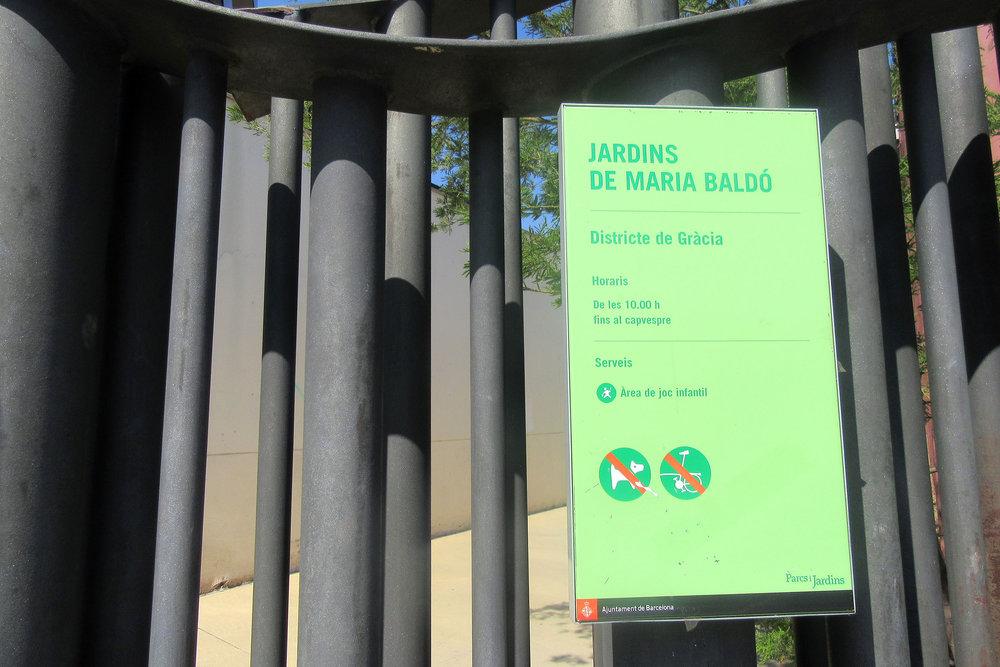 Jardins de Maria Baldo Gracia Barcelona budget travel hidden gems.JPG