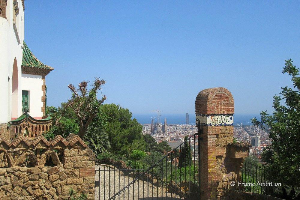 Casa Gaudi Parc Guell view of Sagrada Familia.JPG