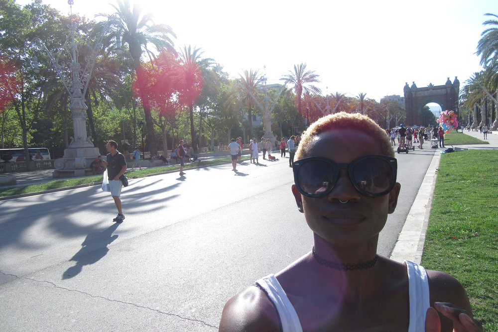 This is me at the Arc de Triomph, triumphing over broke-ness ;) ;)