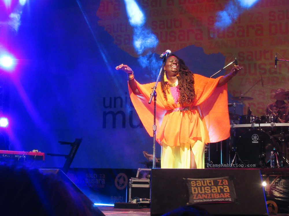 Somi live on stage on the final night.
