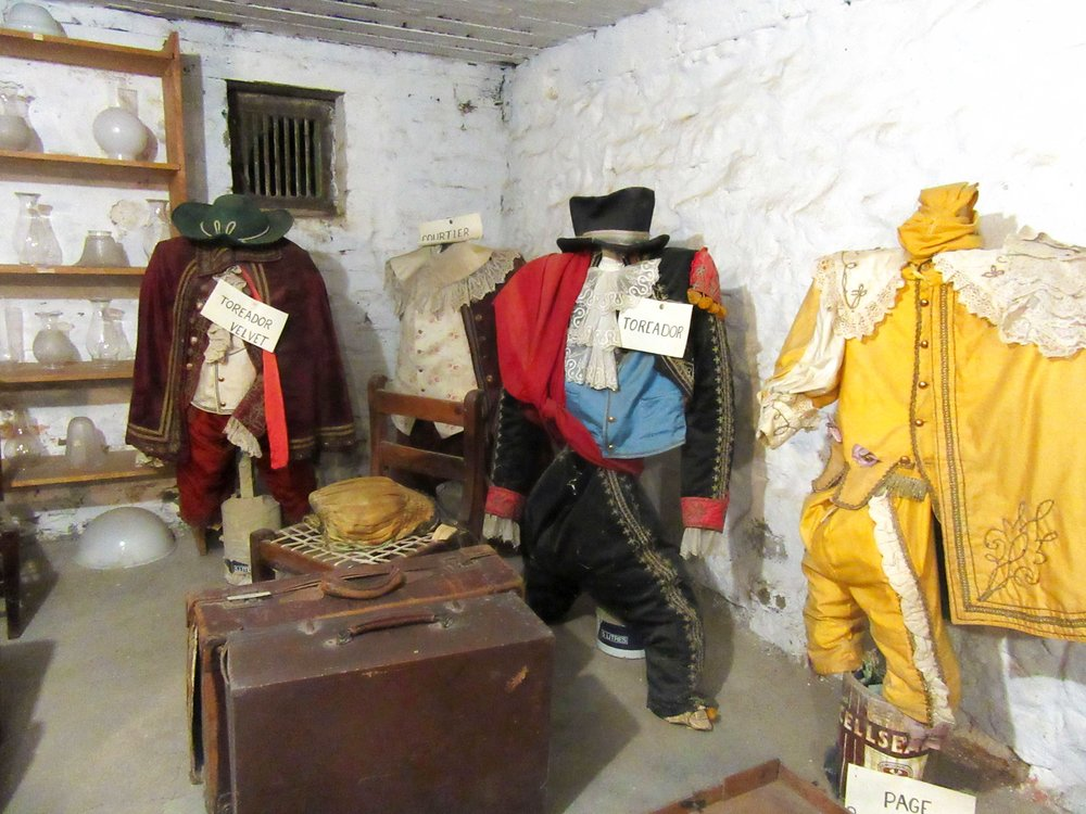 Vintage military uniforms at the Marie Rawdon Museum, Matjiesfontein