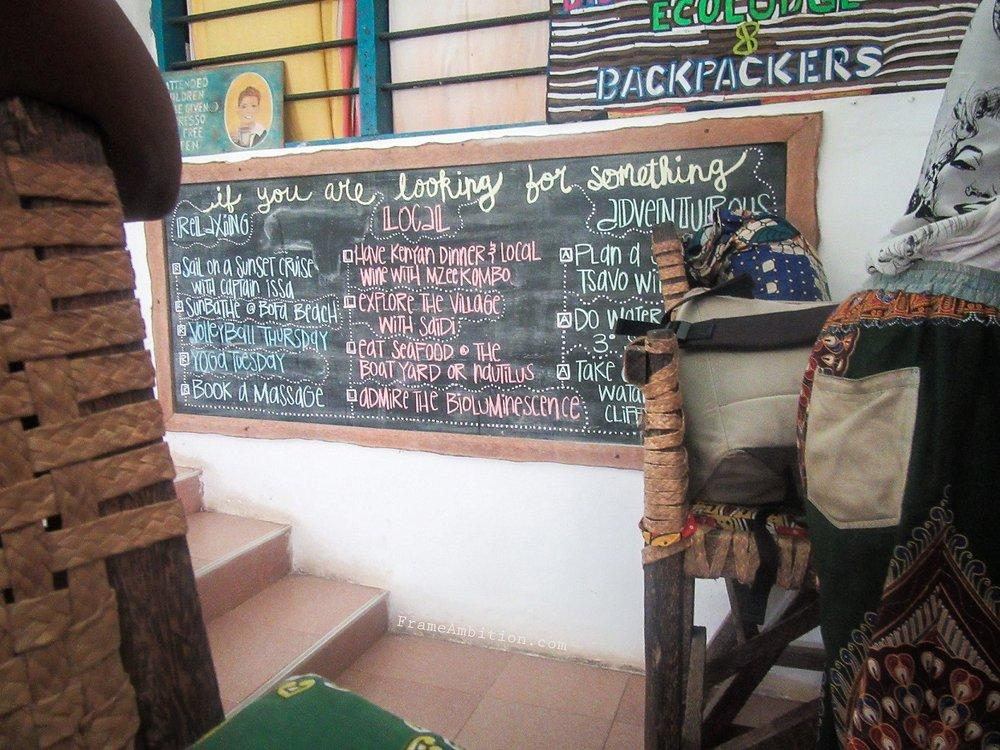 Something for everyone at  Distant Relatives Eco-Lodge  - Kilifi, Kenya