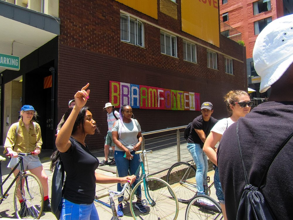 A bike tour of Braamfontein led by staff at  Once in Joburg  - Johannesburg, South Africa