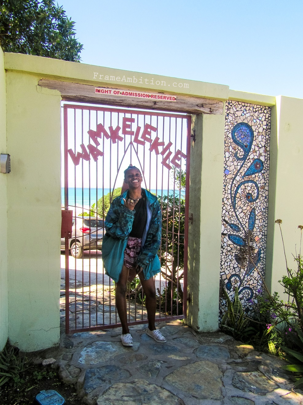 The entrance to Island Vibe Backpackers - Jeffrey's Bay, South Africa