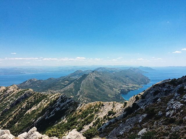 Did an 8 hour hike up Sveti Ilija in 30 degree heat, nearly got attacked by dogs, but it was worth the view.