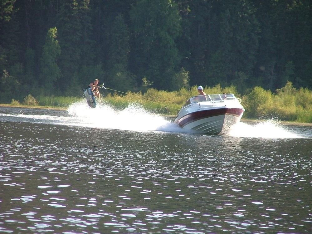 Wakeboarding at timothy lake