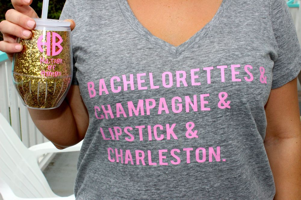I had cups made for everyone so we could drink and the beach and not worry about getting in trouble :) How cute are these shirts! My Matron of Honor, Hope must have been a t-shirt designer in her former life! So fun!