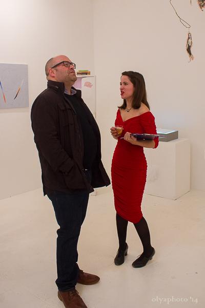 (L-R) Artist Daniel Davidson with curator Hazel Lee Santino