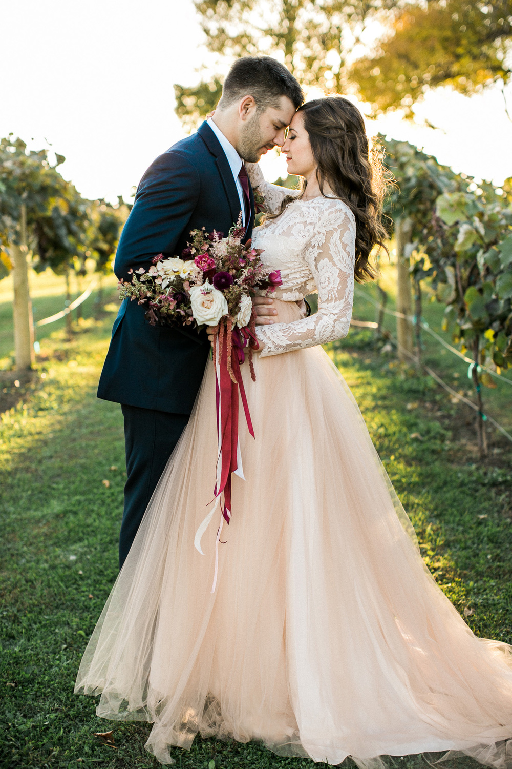 Romantic Marsala Wedding Inspiration