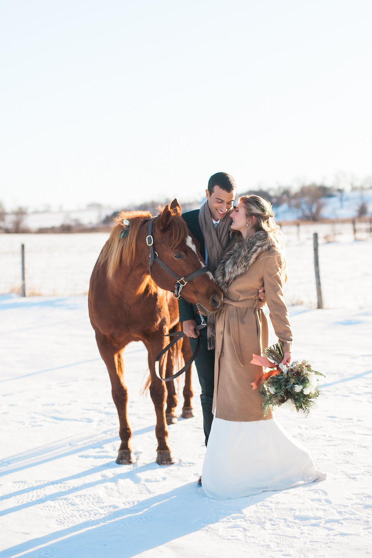 Intimate Wisconsin Winter Elopement Inspiration