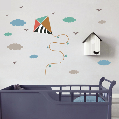 Kids Room Decor Wall Decals Kite — TINYFRENCHY