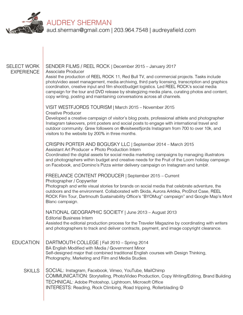 Audrey Sherman_Resume