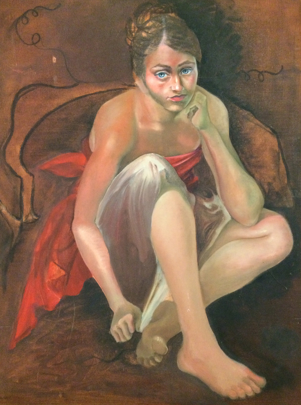 "Mariposa, 2007.   Oil on canvas, 18"" x 24""."