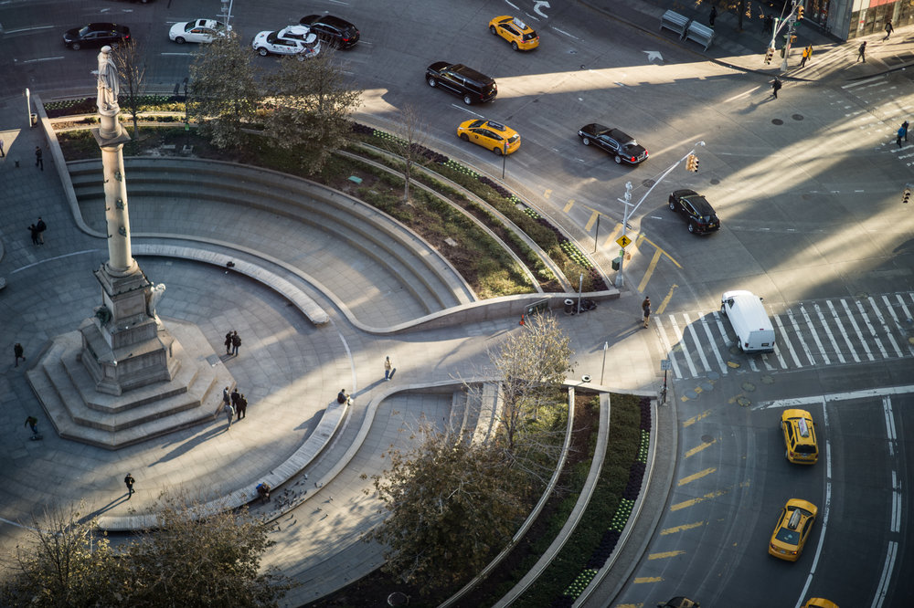 Columbus Circle taken from a window of Mandarin Oriental New York. (Photo c/o Daniel Krieger, 2018)