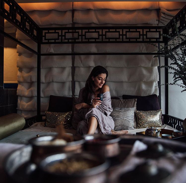 Lindsey Calla indulges in a little restorative spa time at Mandarin Oriental New York Spa. (Photo c/o Lindsey Calla, 2018)