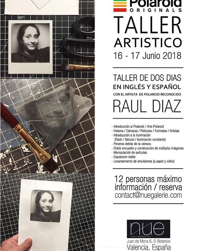 WORKSHOP #rrrdiaz #nuegalerie #valencia #polaroidoriginals #polariodart