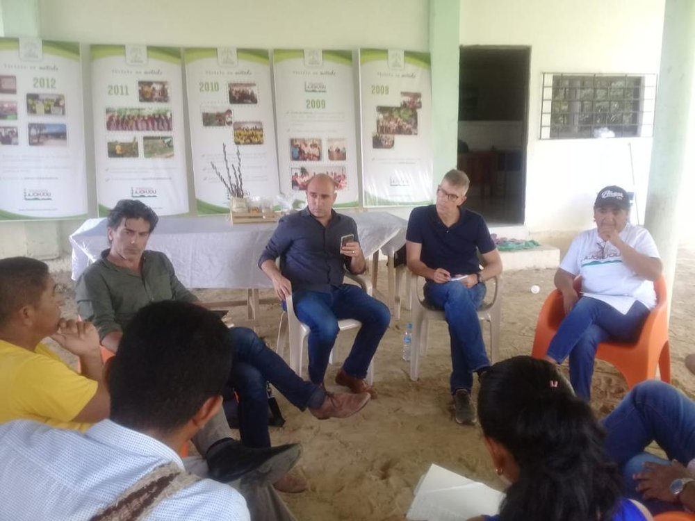 Transform finance team meets with a community-led agro-business