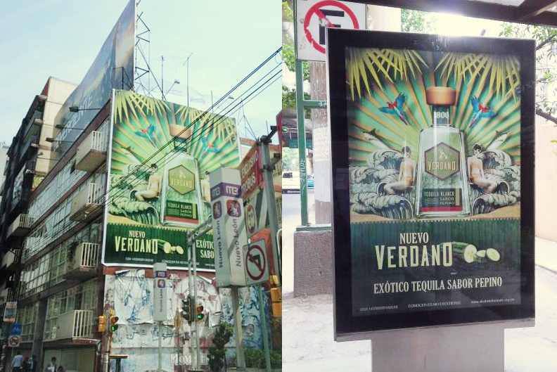 The 1800 ads out in the wild in Mexico City.