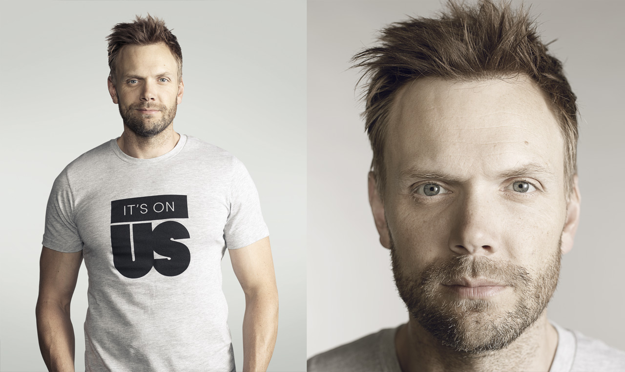 More Portraits for IT'S ON US.     Joel McHale from NBC's Community and The Soup.