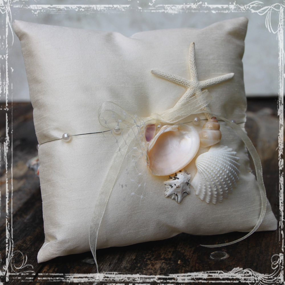 Fake Wedding Bands For Ring Bearer 57 Perfect Ring bearer pillow beach