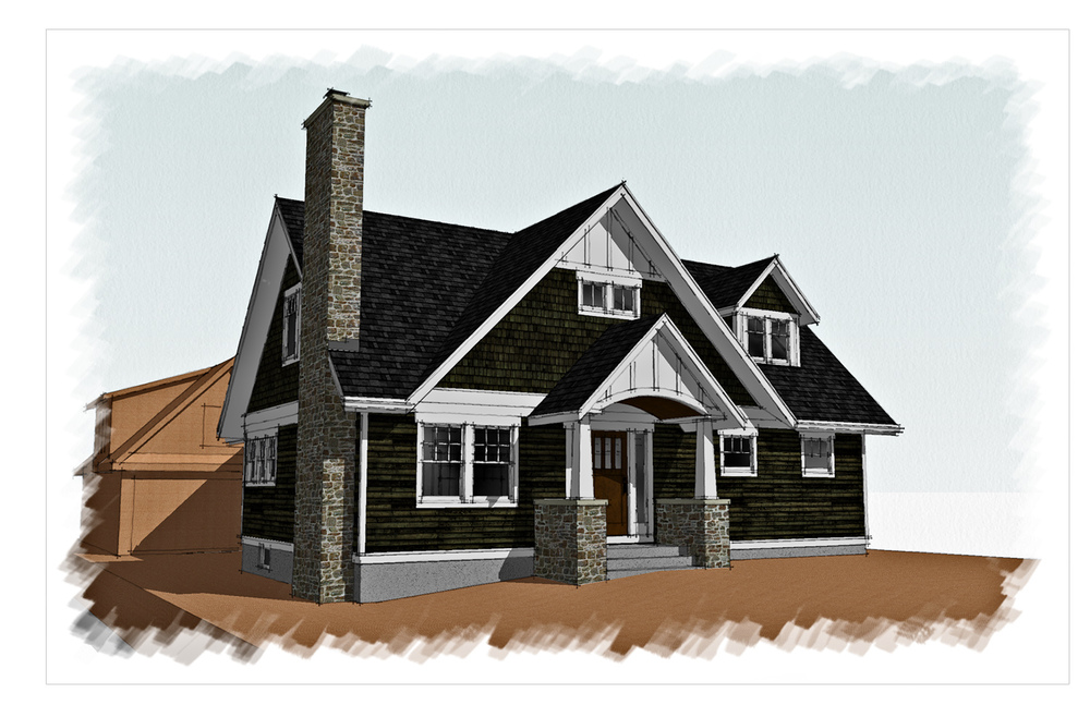 Ranch to craftsman gordon architecture for Ranch second story addition plans