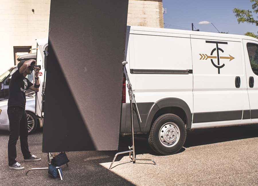The #PortraitVan at work outside TwinSix HQ in Minneapolis, MN.