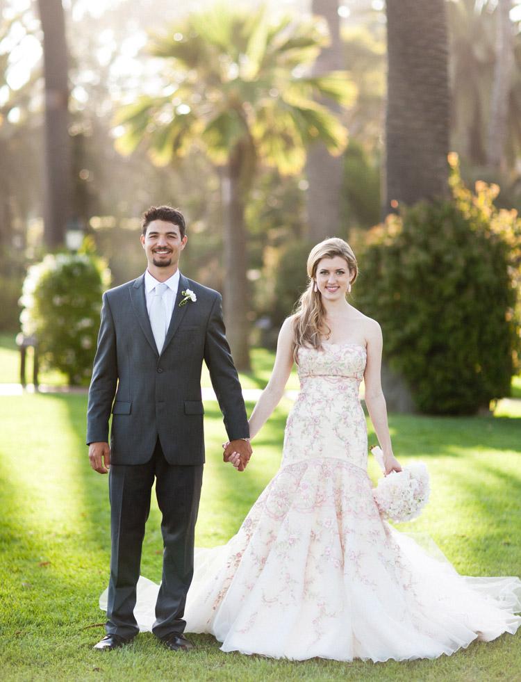 John and Veronica Puailoa wedding portrait at the Four Seasons Biltmore in Montecito, CA.