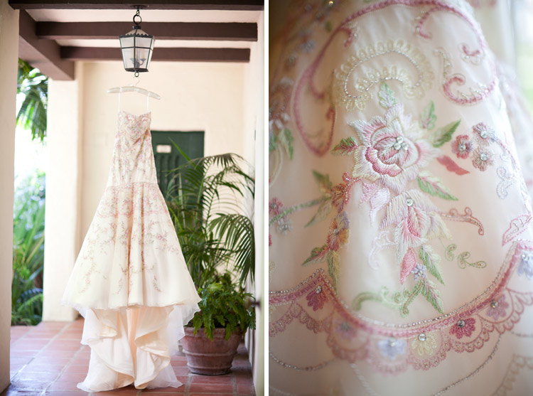 Say yes to the dress hand embroidered floral Lazarro wedding gown