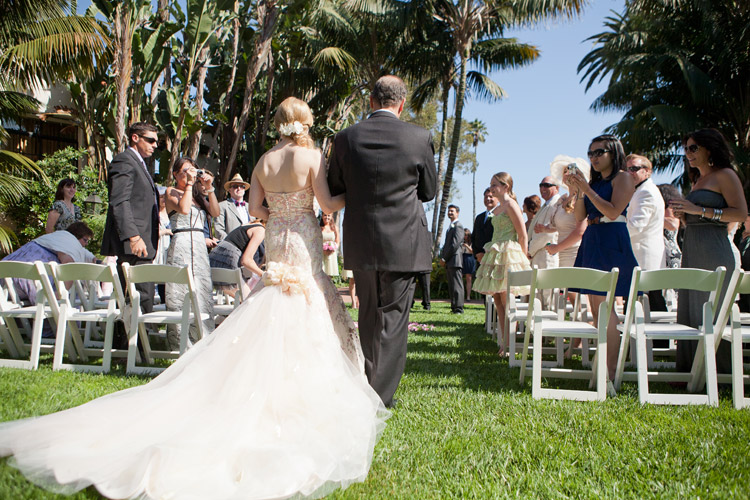 Wedding Ceremony at the Four Seasons Biltmore Mariposa Garden