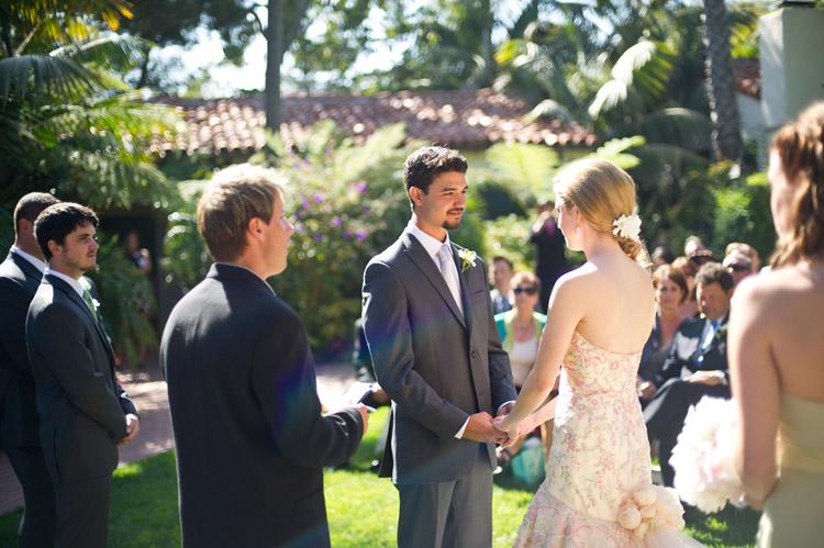 Mariposa Garden Wedding Ceremony Biltmore, Santa barbara