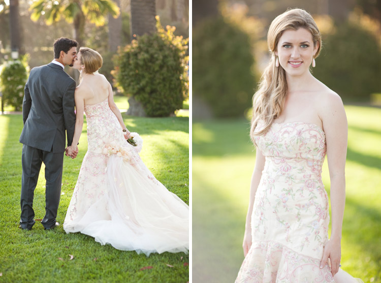embroidered Lazarro wedding dress - say yes to the dress