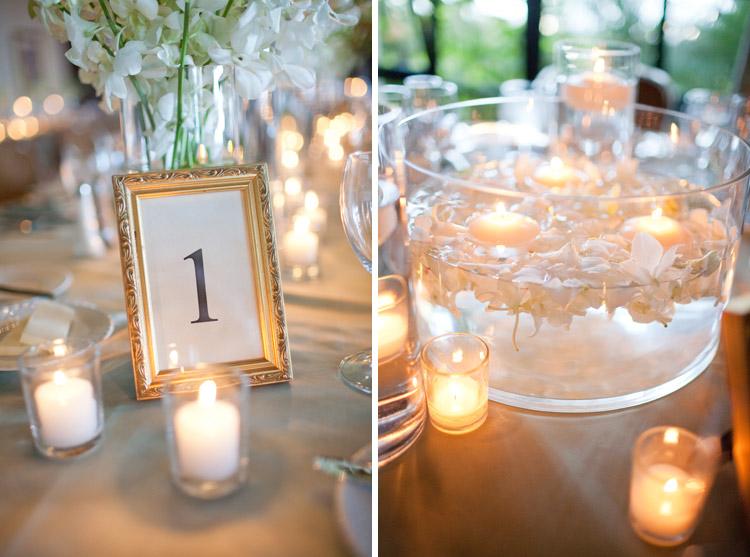 Wedding Reception details and decor at the La Marina Room Biltmore, SB. Hearts Bloom Floral