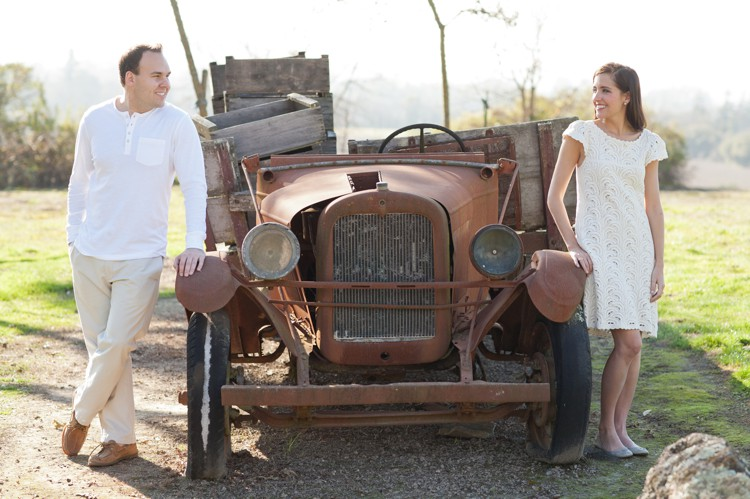 Engagement photo at Gundlach Bundschu, Sonoma, CA