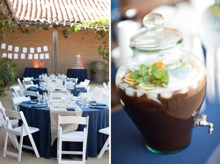 Blue wedding decor Santa barbara