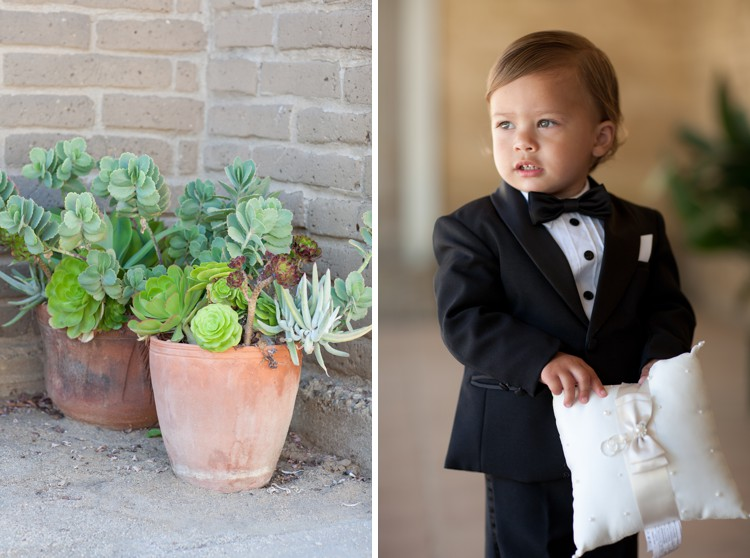cute ring bearer in a tux