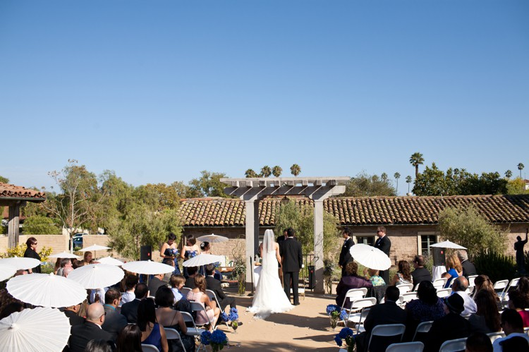 Santa Barbara Historical Museum wedding ceremony