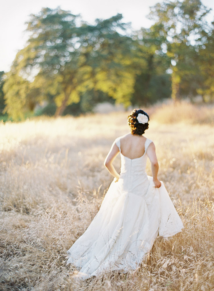 Summertime bride in California