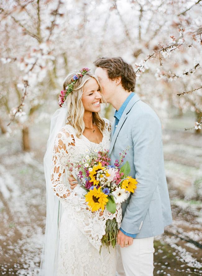almond orchard wedding