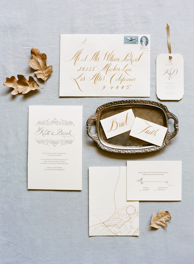 Rustic elegant calligraphy by Tara Jones