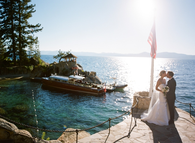 Wedding at the Thunderbird Lodge Lake Tahoe